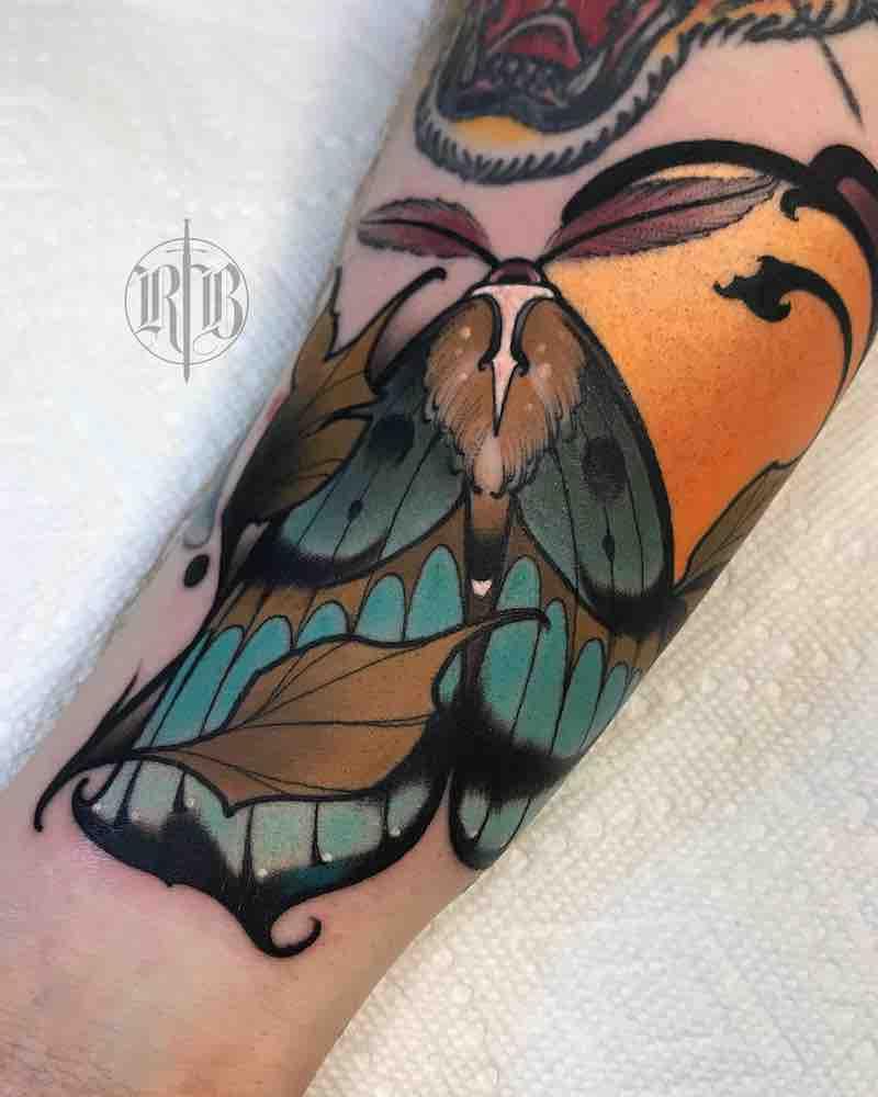 Moth Tattoo by RB Tattoo