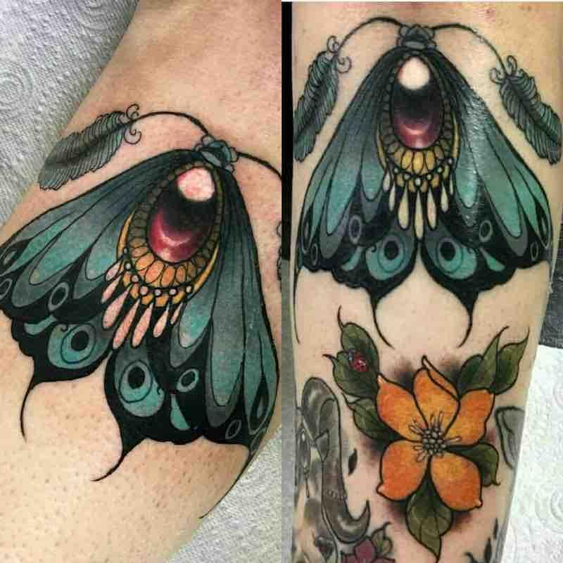 Moth Tattoo by Summer Heath
