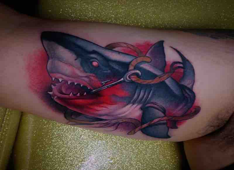 Shark Tattoo by Steven Compton