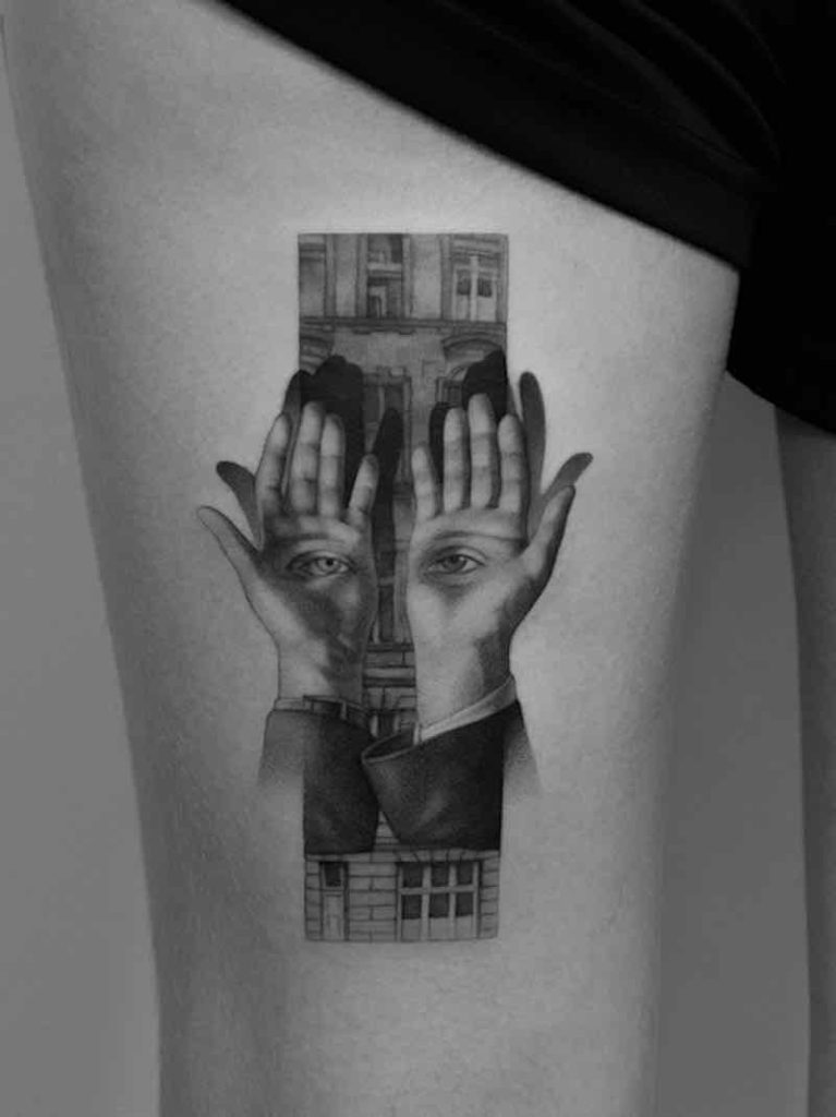 Surreal Tattoo by Paweł Indulski