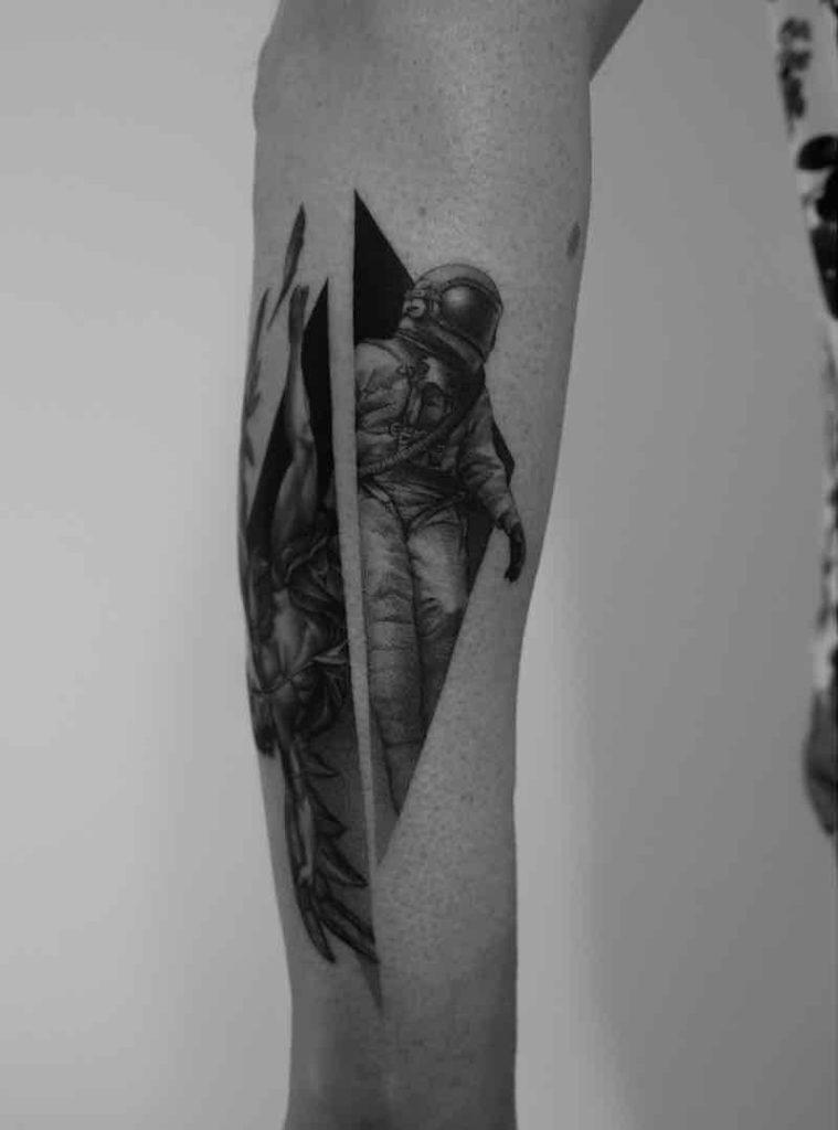 Astronaut Tattoo 2 by Paweł Indulski