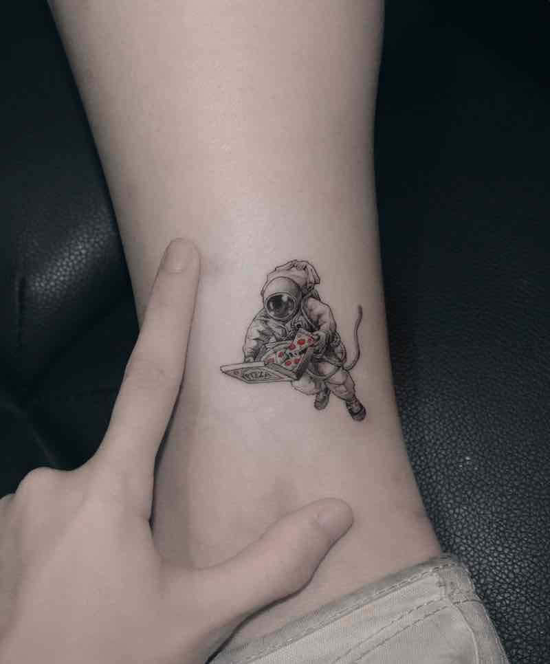Astronaut Tattoo 2 by Zipin Black