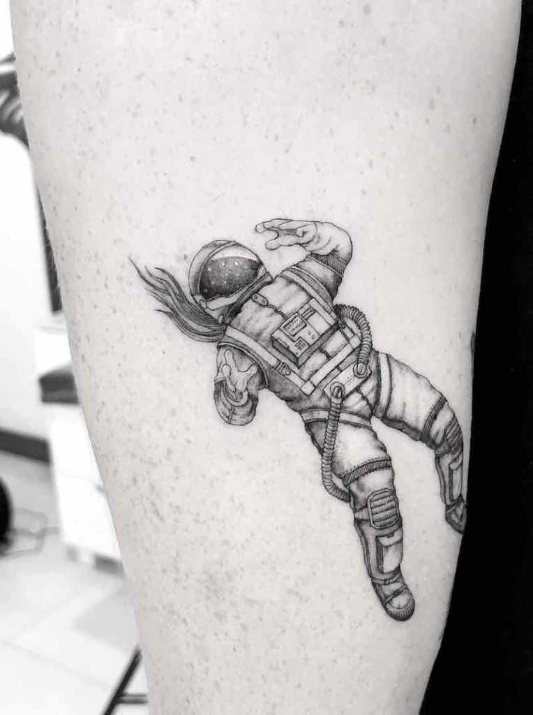 Astronaut Tattoo 3 by Bacht