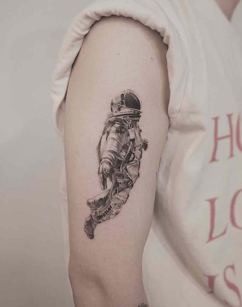 Astronaut Tattoo by Zeal Tattoo