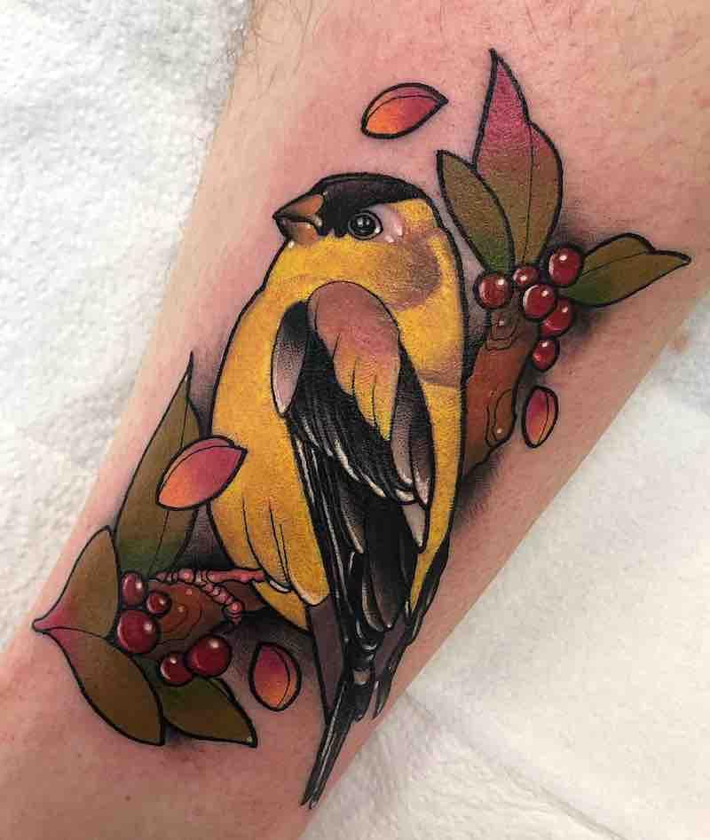 Bird Tattoo by Adriana R