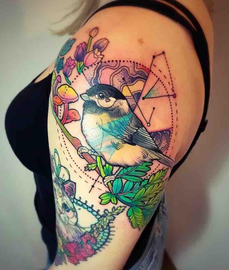 Bird Tattoo by Katie Shocrylas