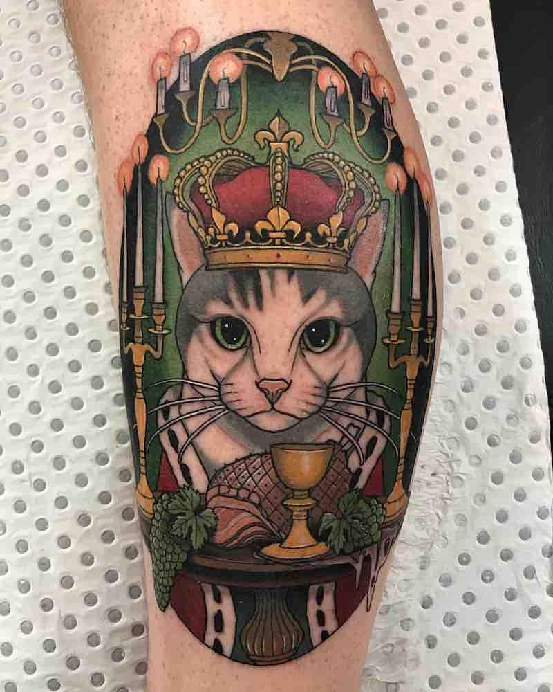 Cat Tattoo by Drew Shallis