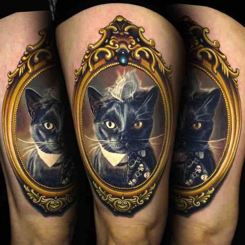 Cat Tattoo by Nikko Hurtado