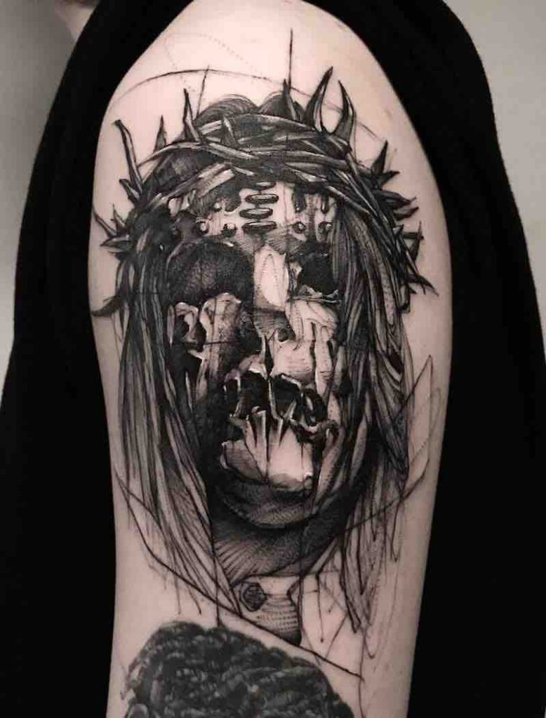 Creepy Tattoo 2 by Bk Tattooer