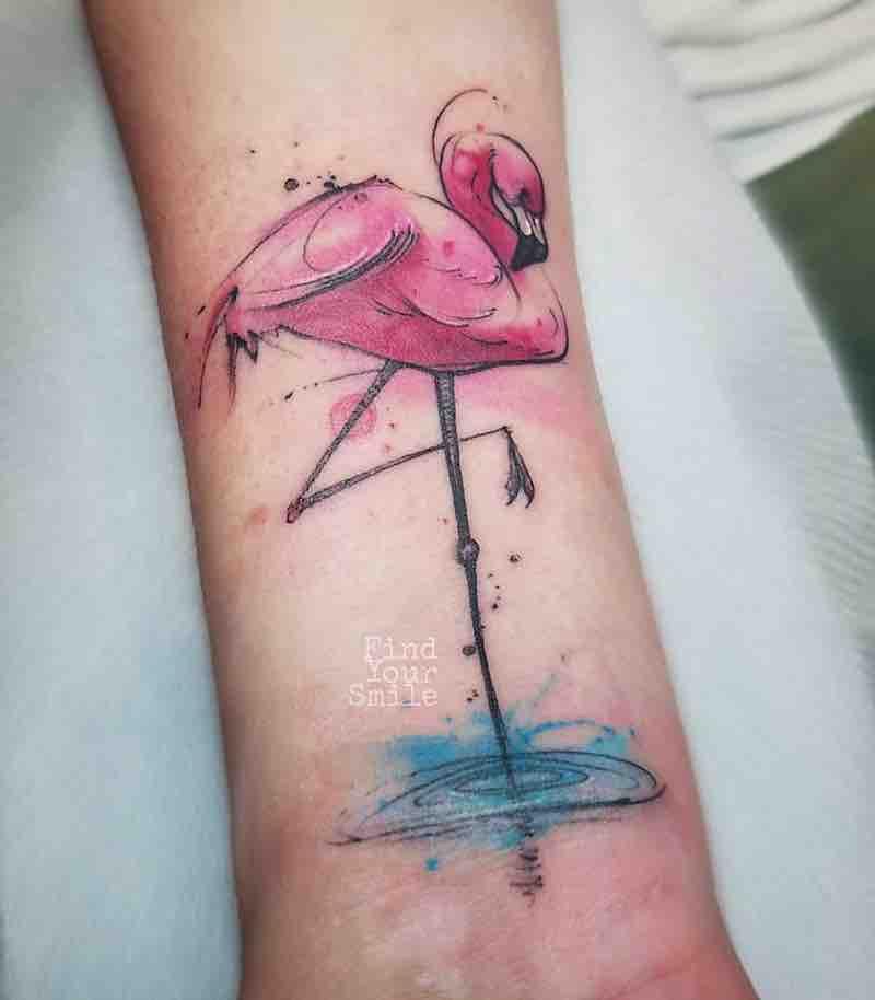 Flamingo Tattoo by Russell Van Schaick