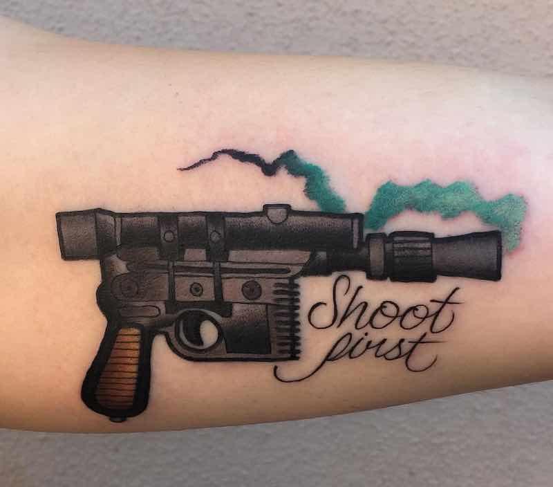 Gun Tattoo by Billy Weigler