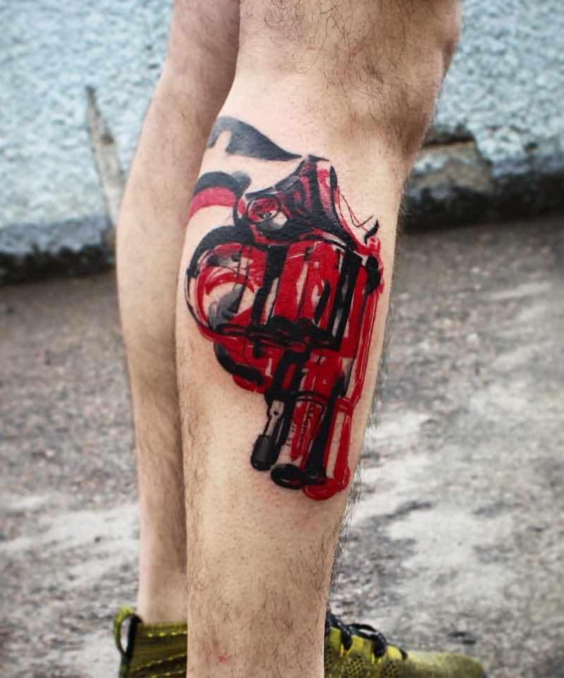 Gun Tattoo by Ksu Arrow
