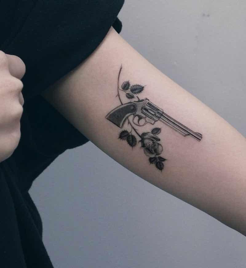 Gun Tattoo by Zipin Black