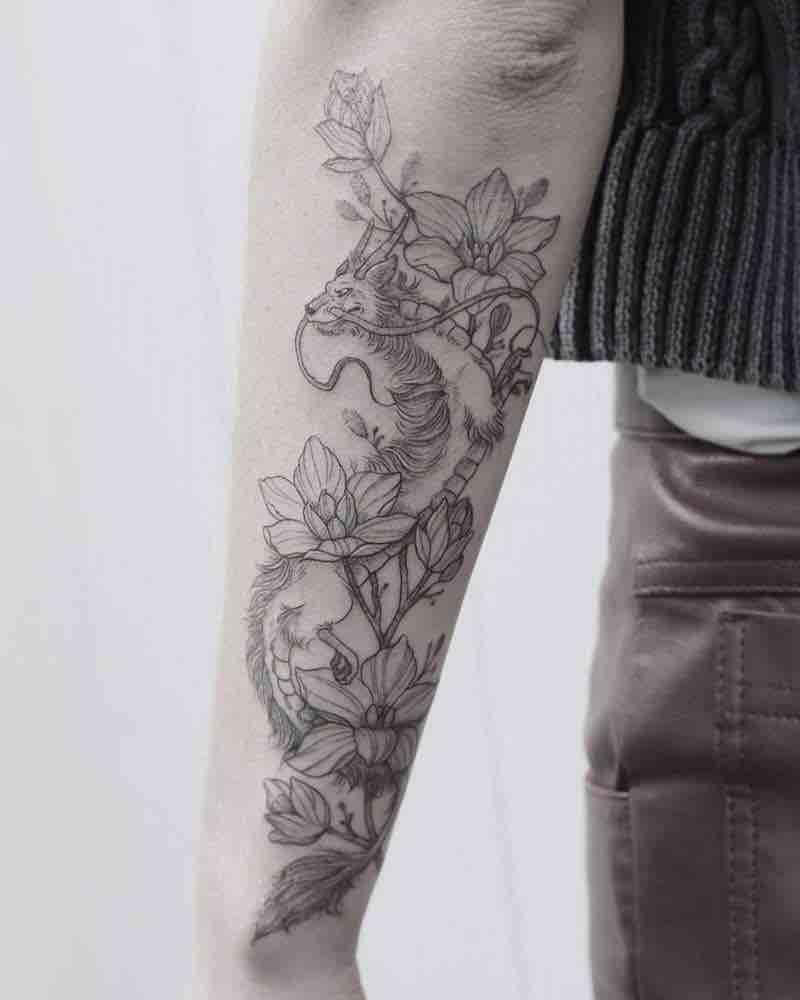 Haku Tattoo by Phoebe Hunter