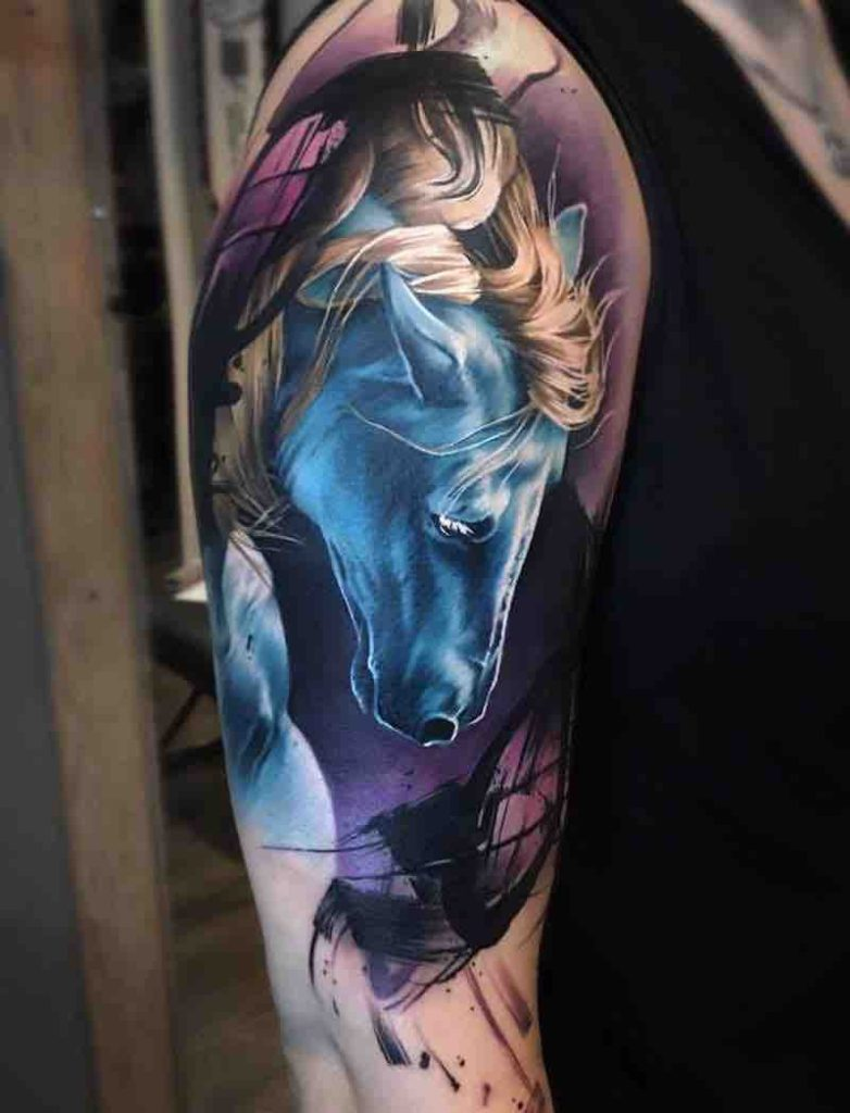 Horse Tattoo 2 by Sandra Daukshta