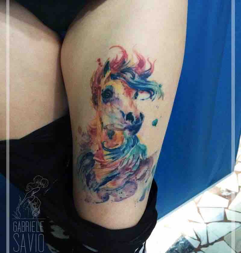 Horse Tattoo by Gabriele Savio