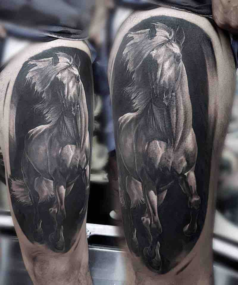 Horse Tattoo by Vasilii Suvorov