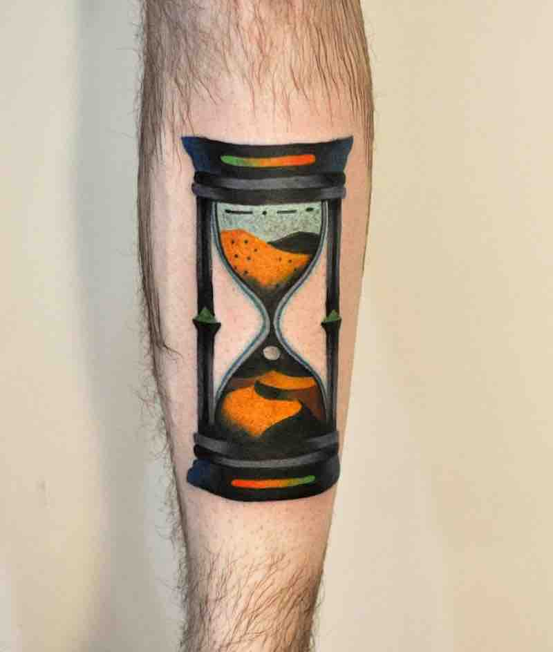 Hourglass Tattoo by David Peyote