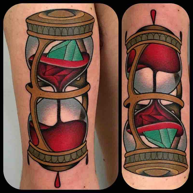 Hourglass Tattoo by Fulvio Vaccarone