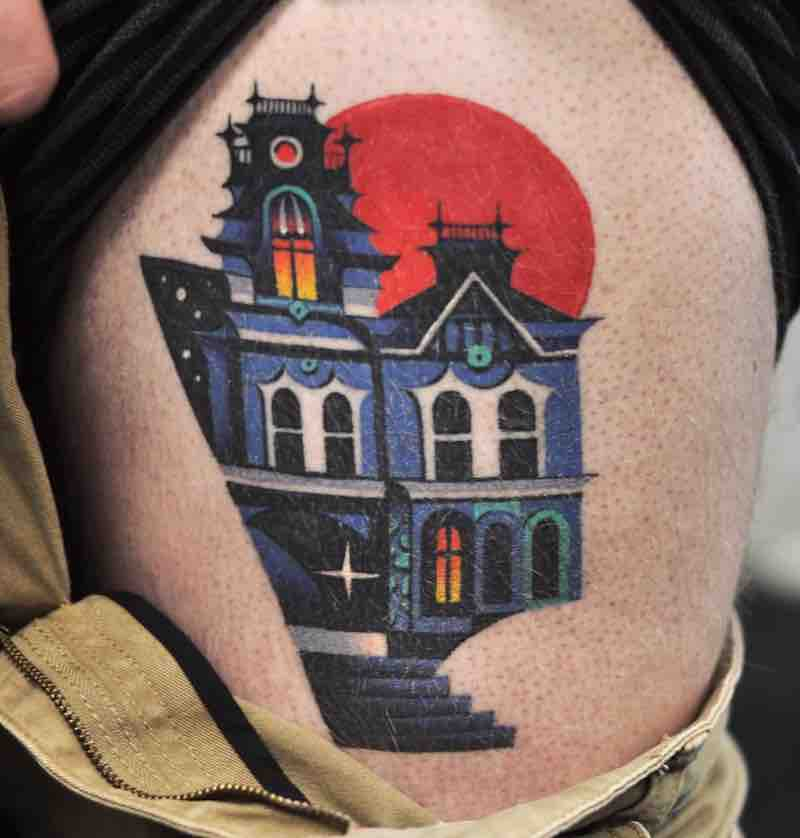 House Tattoo 3 by David Peyote