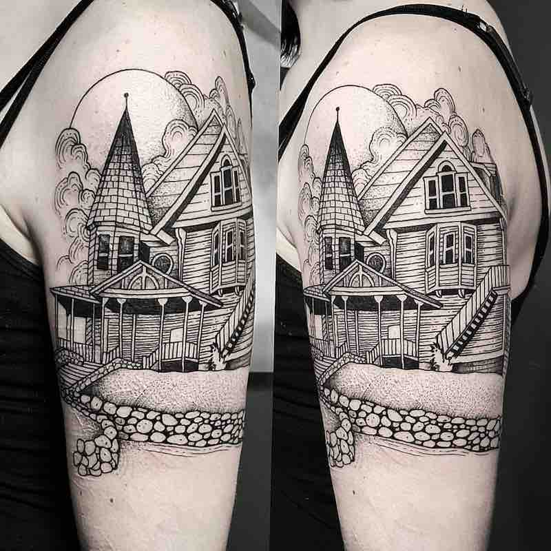 House Tattoo by Cutty Bage