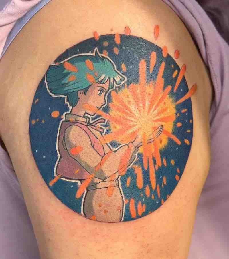 Howls Moving Castle 2 Tattoo by Carly Kawaii