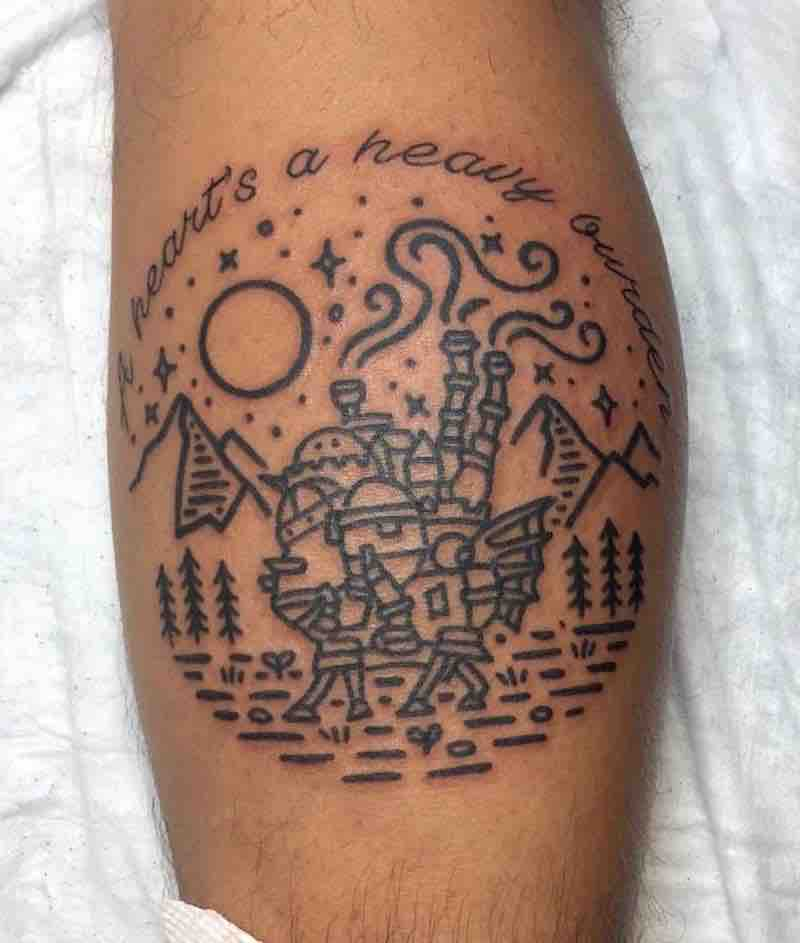 Howls Moving Castle 3 Tattoo by Carly Kawaii