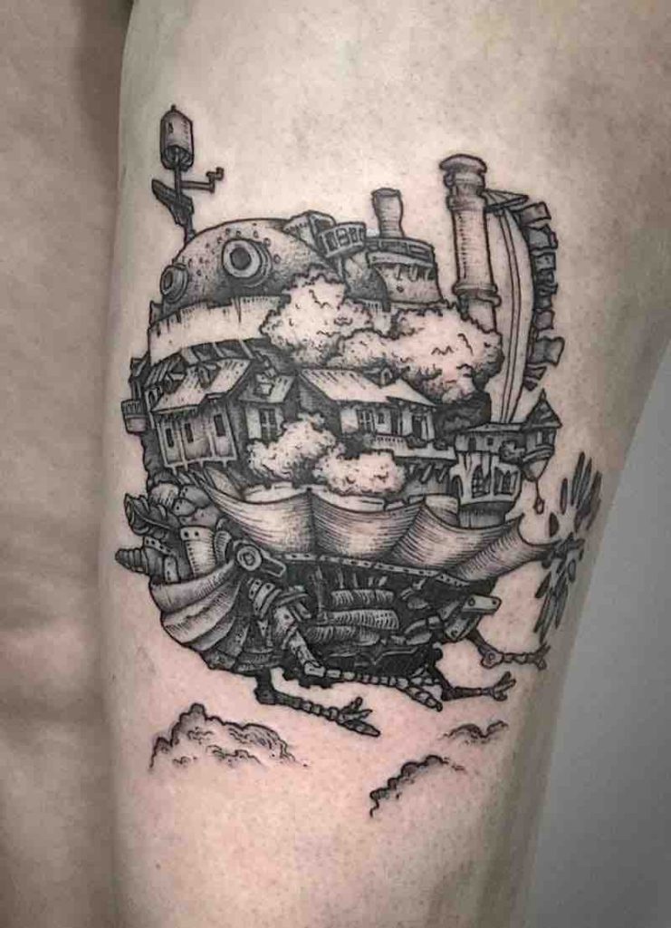 Howls Moving Castle Tattoo by Tom Tom Tatt