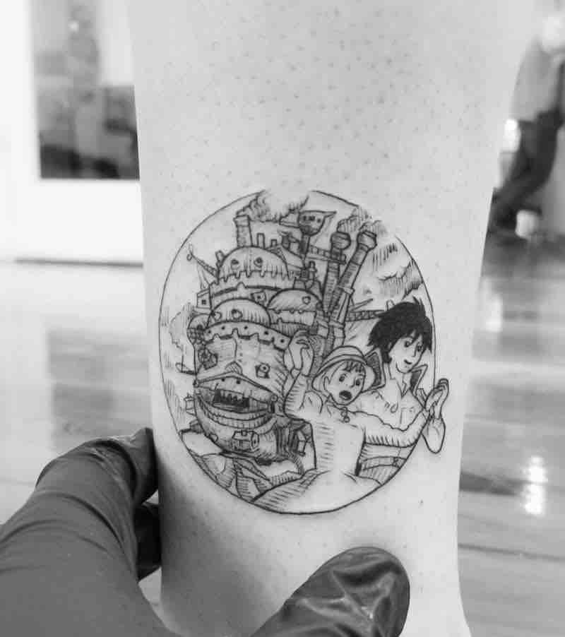 Howls moving Castle Tattoo 3 by Alexandyr Valentine