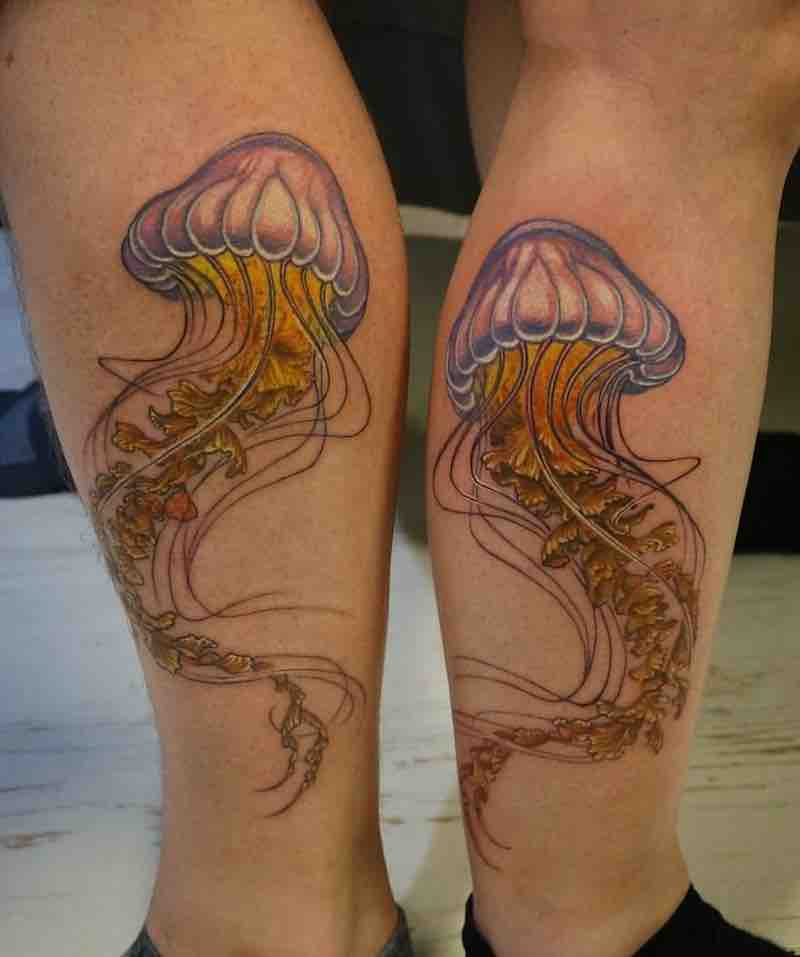 Jellyfish Tattoo 2 by Hori Benny