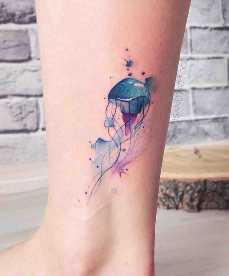 Jellyfish Tattoo 2 by Valentina Vinsand