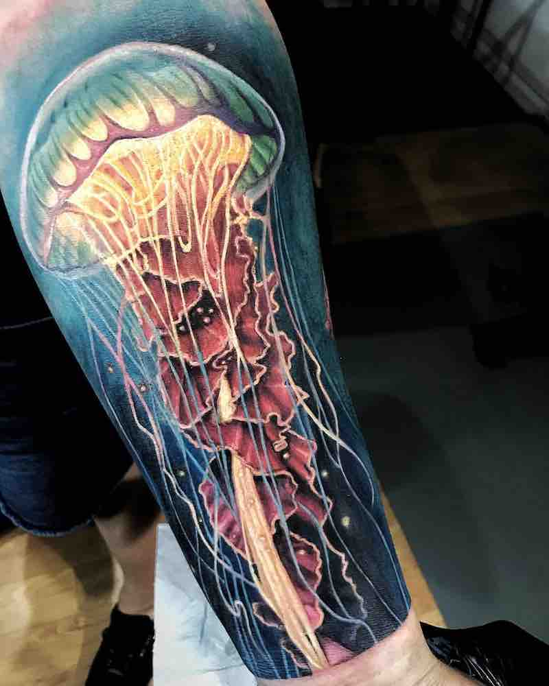Jellyfish Tattoo by Edi Contreras