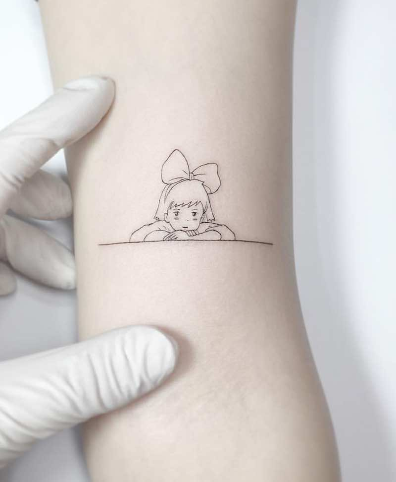 Kikis Delivery Service Tattoo by Playground tat2