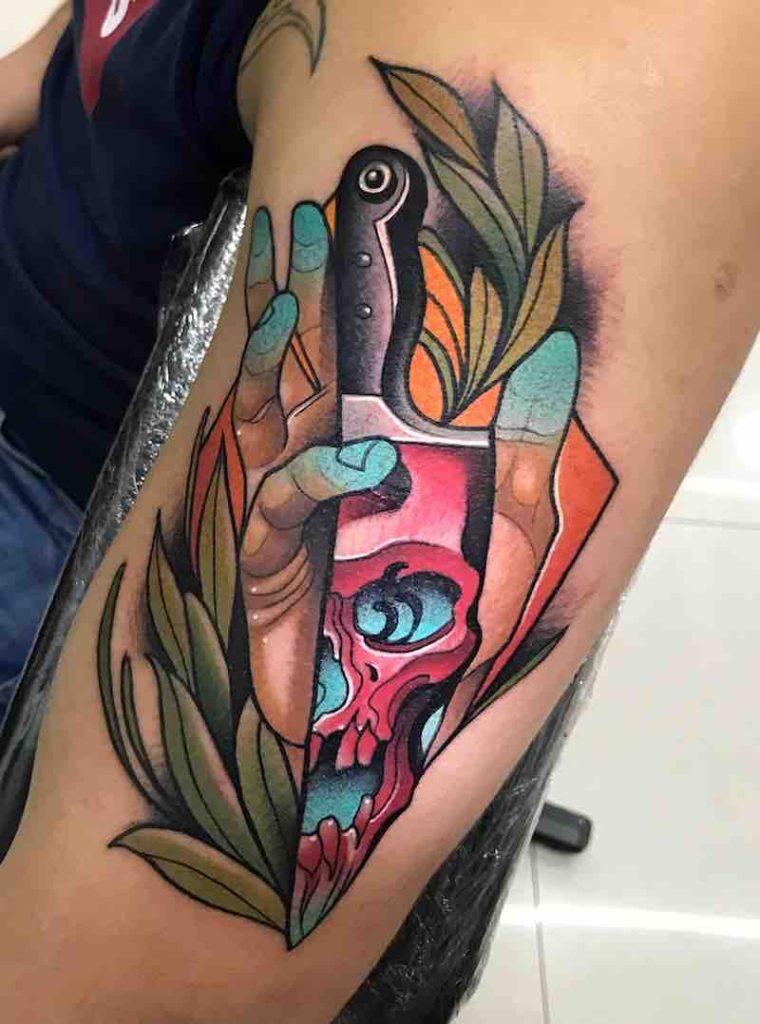 Knife Tattoo by Johnny Domus