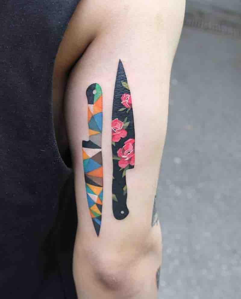 Knife Tattoo by Polyc