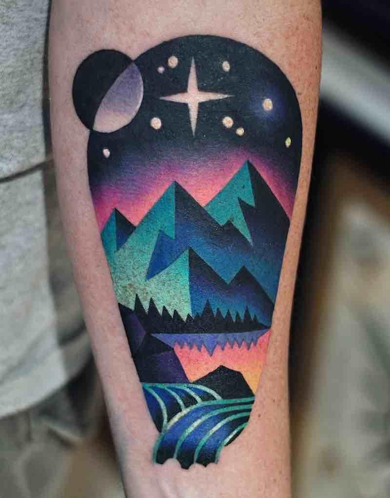 Landscape Tattoo 2 by David Peyote