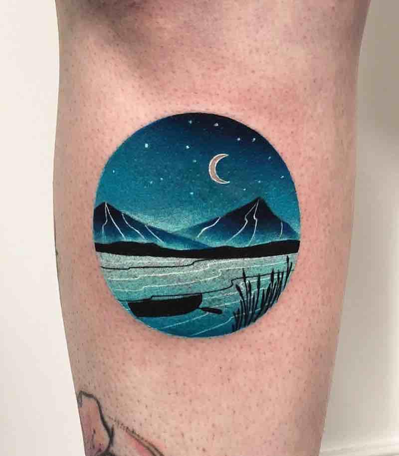 Landscape Tattoo by Daria Stahp