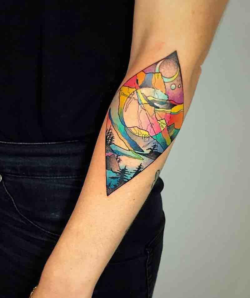 Landscape Tattoo by Katie Shocrylas