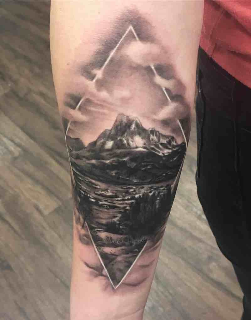 Landscape Tattoo by Kyle Cotterman