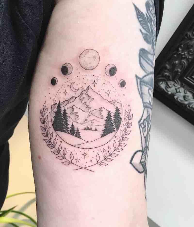Landscape Tattoo by Peta Heffernan