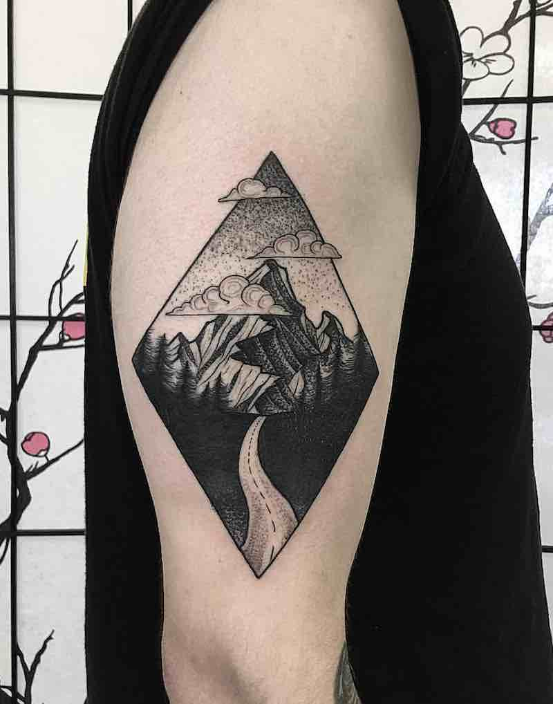 Landscape Tattoo by Robbie Pina