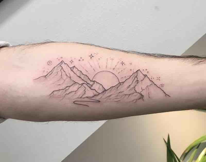 Mountain Tattoo by Peta Heffernan
