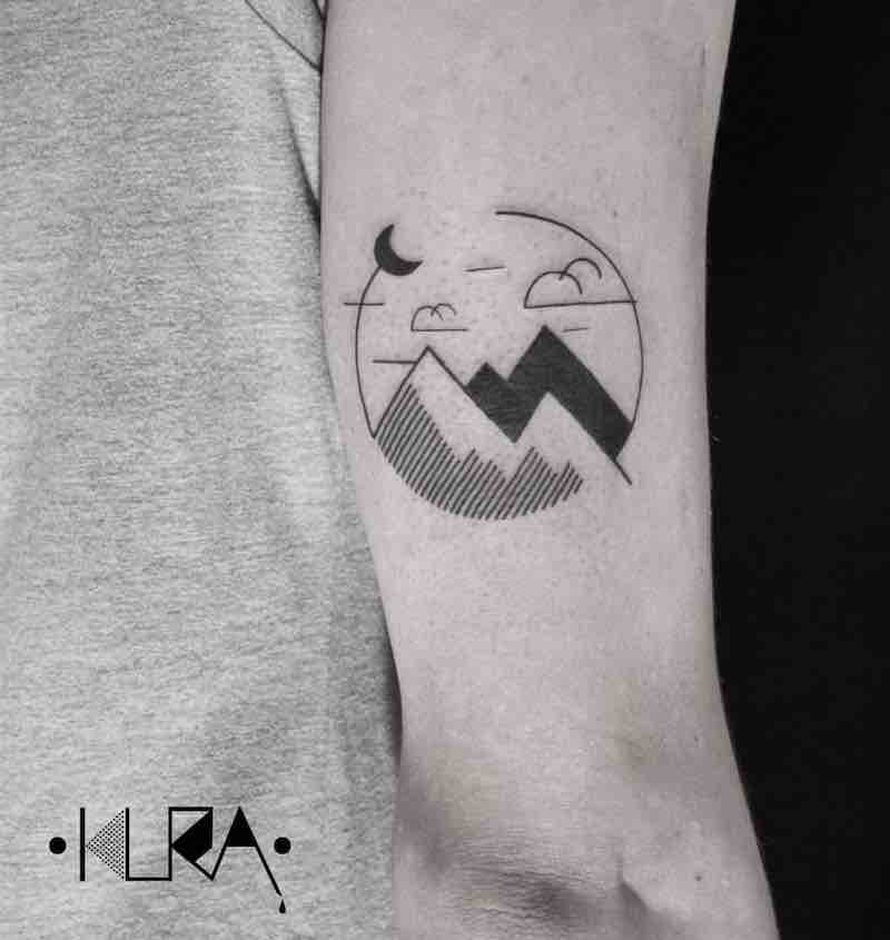 Mountains Tattoo 3 by Aga Kura