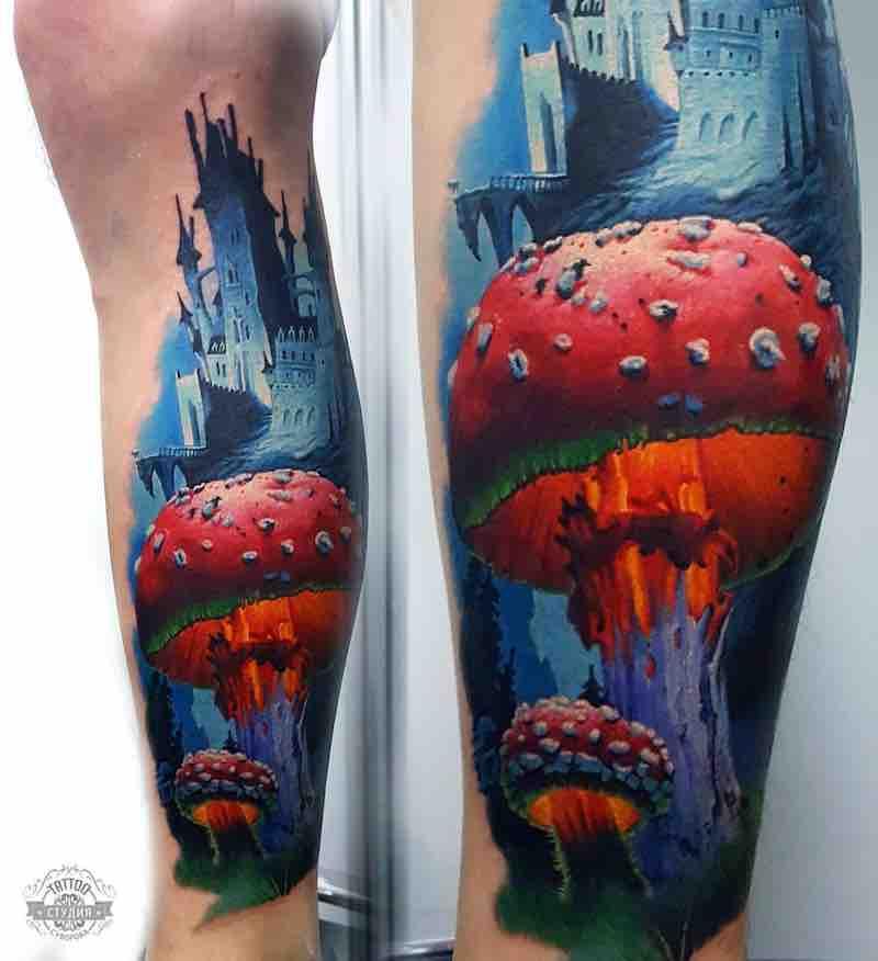 Mushroom Tattoo 2 by Vasilii Suvorov