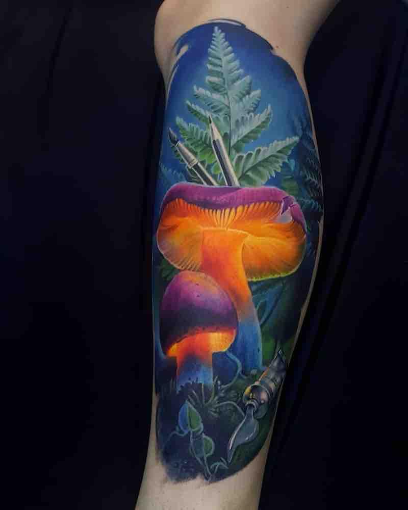 Mushroom Tattoo 3 by Vasilii Suvorov