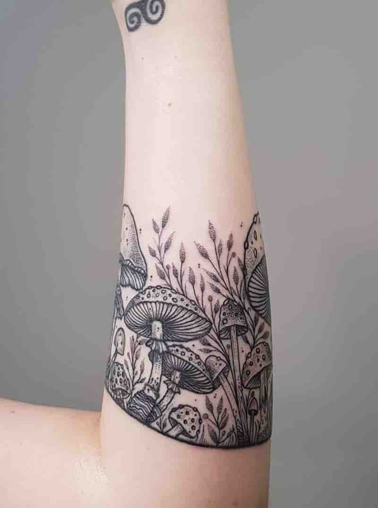 Mushroom Tattoo by Brie Dots