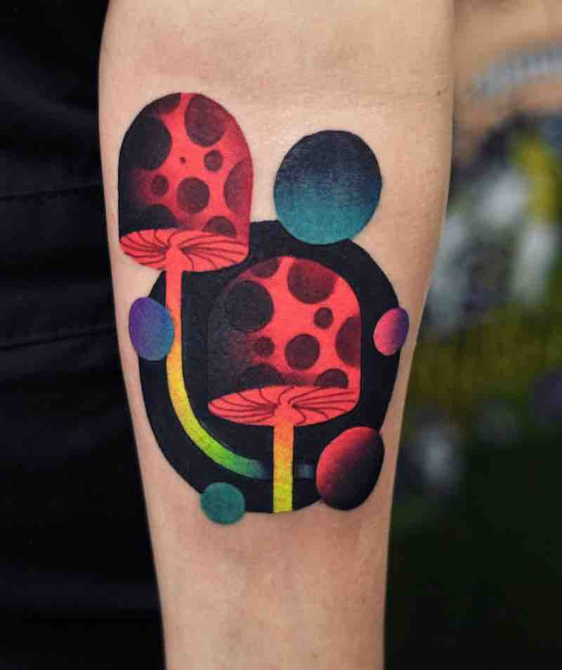 Mushroom Tattoo by David Peyote