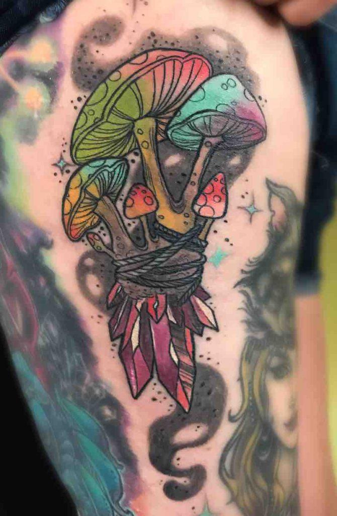 Mushroom Tattoo by Liz Reyes