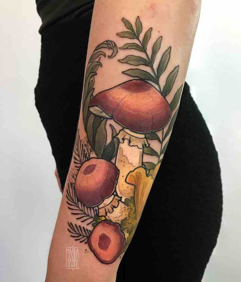 Mushroom Tattoo by Madga Hanke