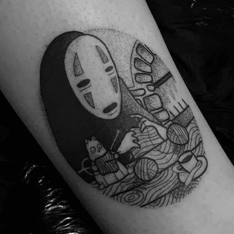 No Face Tattoo 6 by Jess Oxley